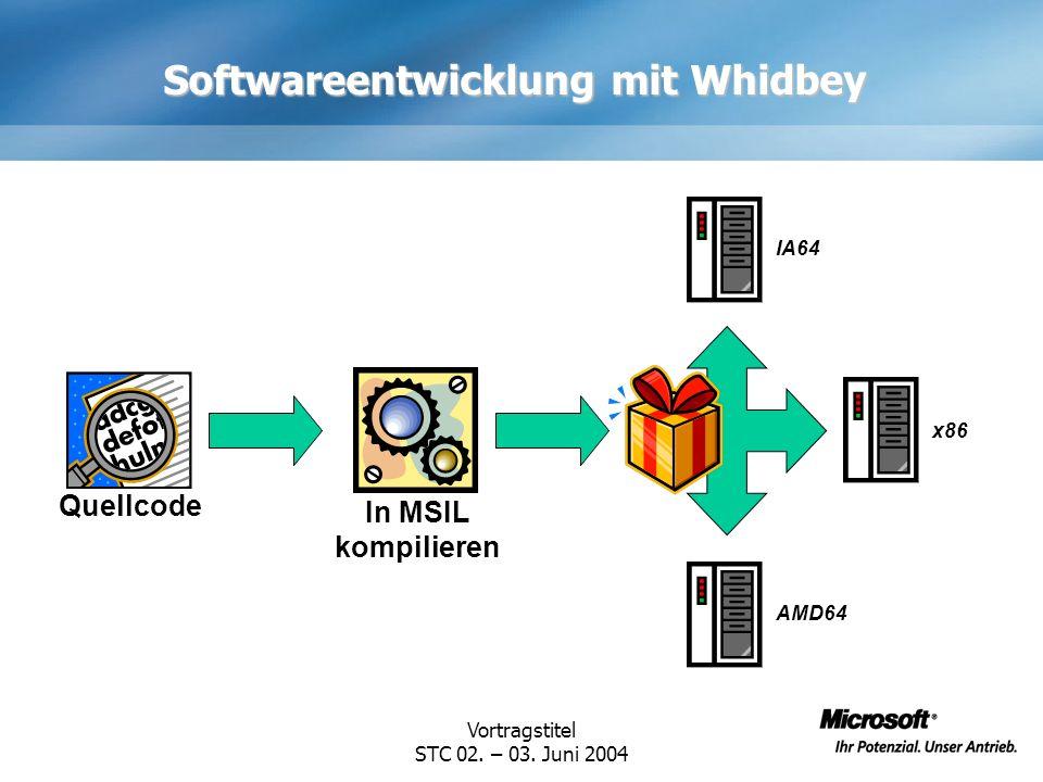 Softwareentwicklung mit Whidbey