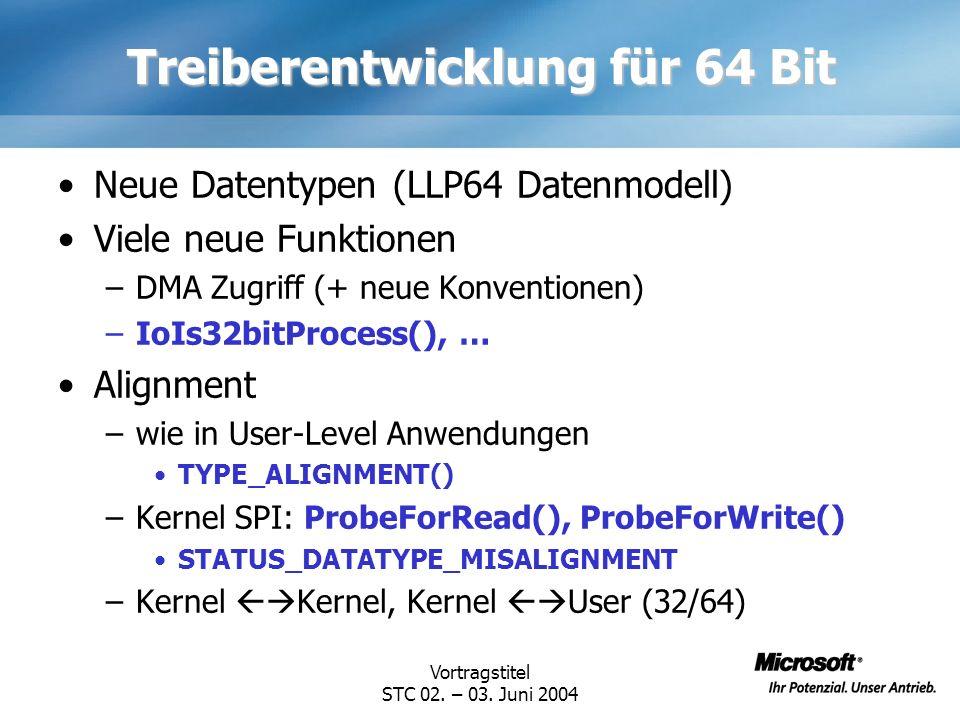 Treiberentwicklung für 64 Bit