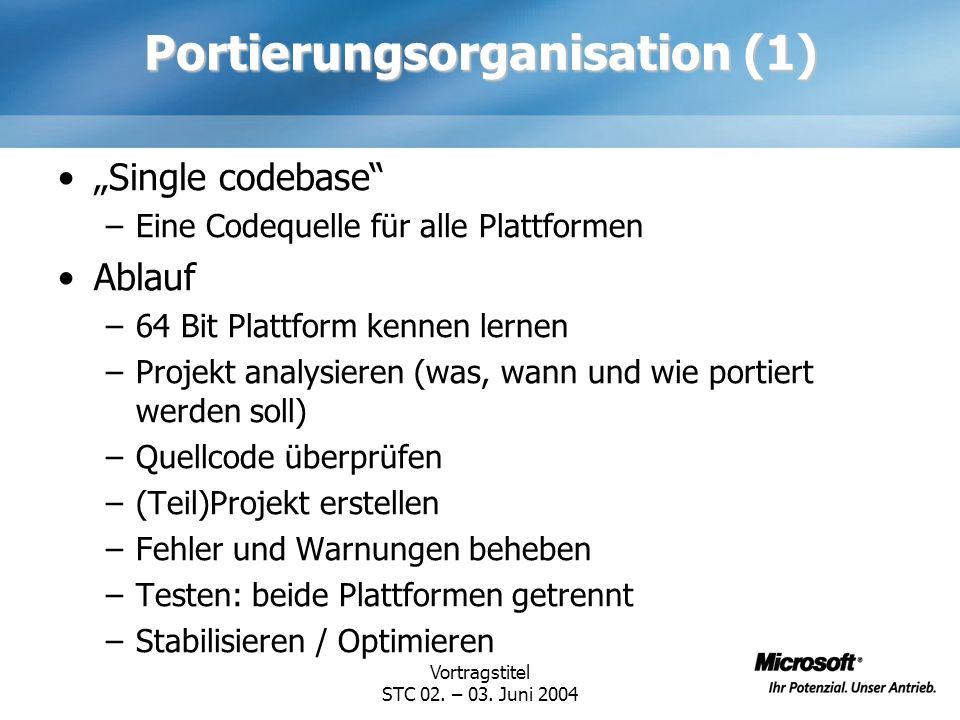 Portierungsorganisation (1)