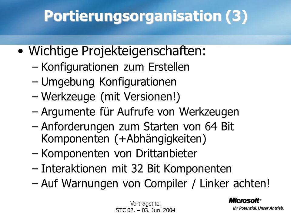 Portierungsorganisation (3)