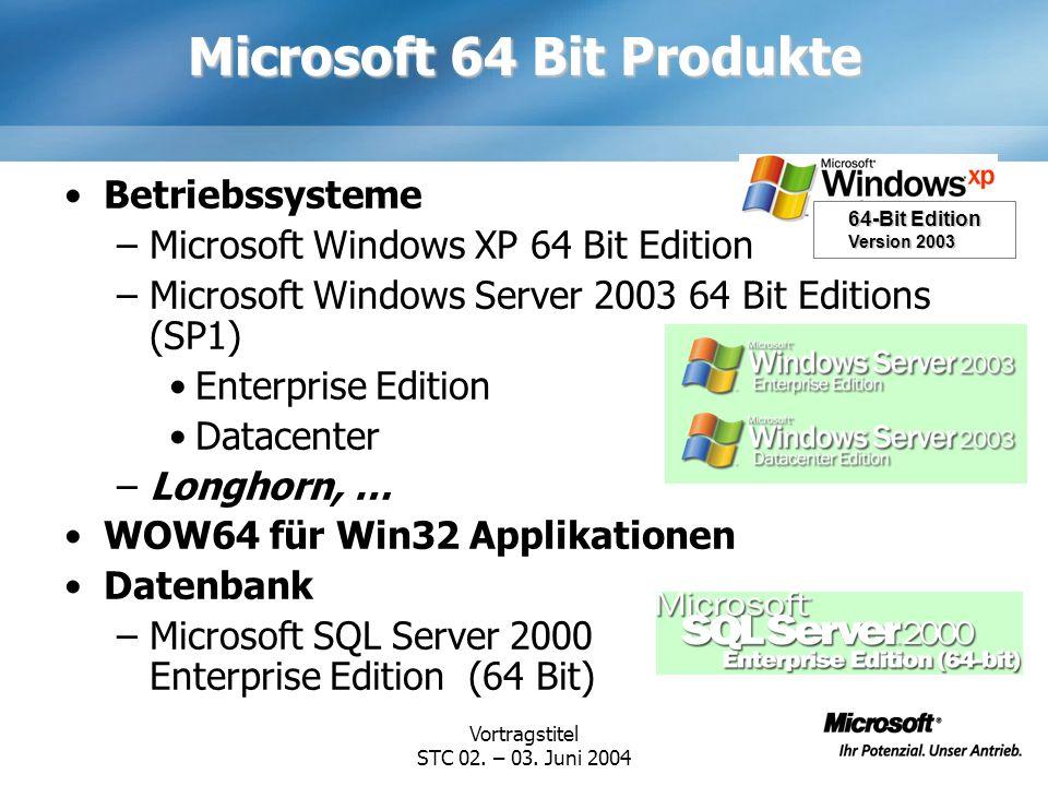 Microsoft 64 Bit Produkte