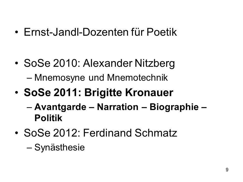 Ernst-Jandl-Dozenten für Poetik SoSe 2010: Alexander Nitzberg