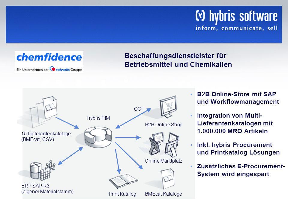 Beschaffungsdienstleister für Betriebsmittel und Chemikalien