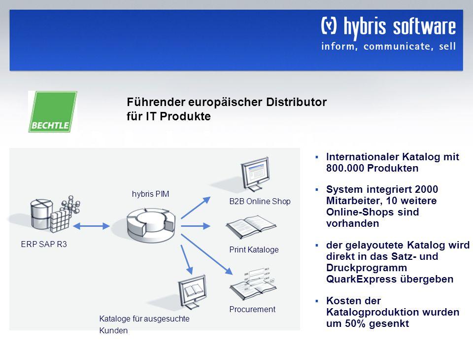 Führender europäischer Distributor für IT Produkte