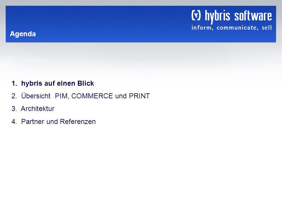 Agenda 1. hybris auf einen Blick. 2. Übersicht PIM, COMMERCE und PRINT.
