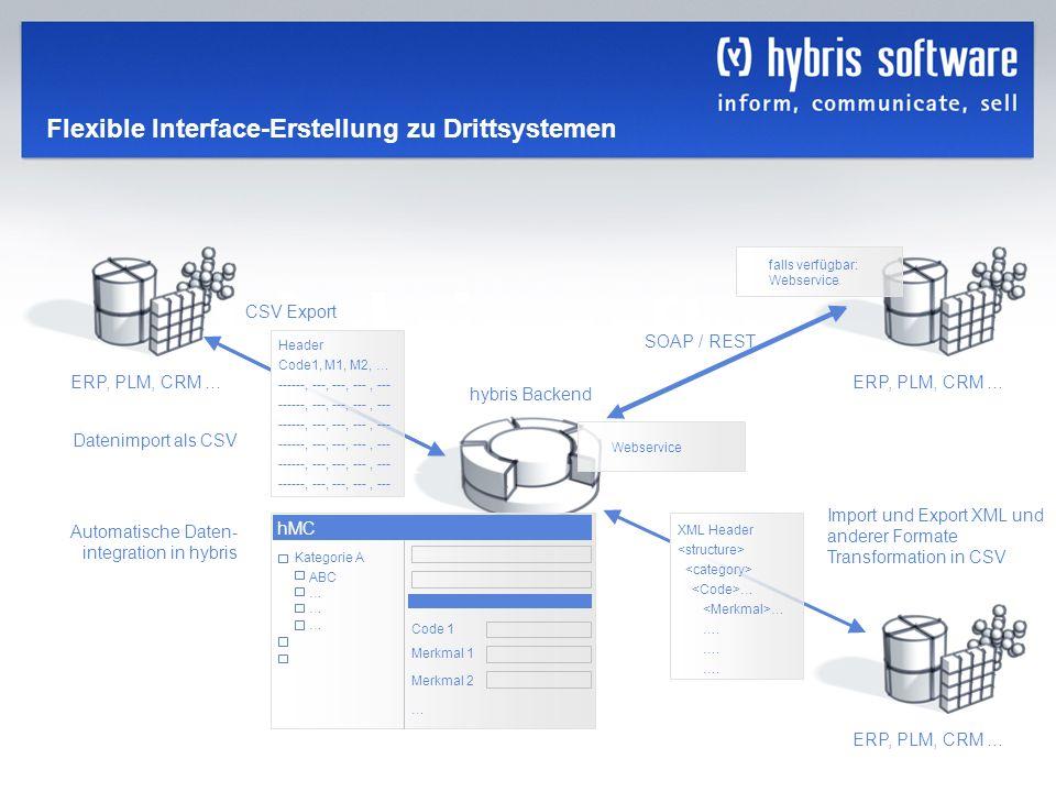 Flexible Interface-Erstellung zu Drittsystemen