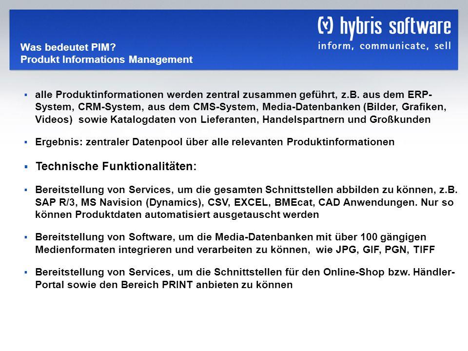 Was bedeutet PIM Produkt Informations Management