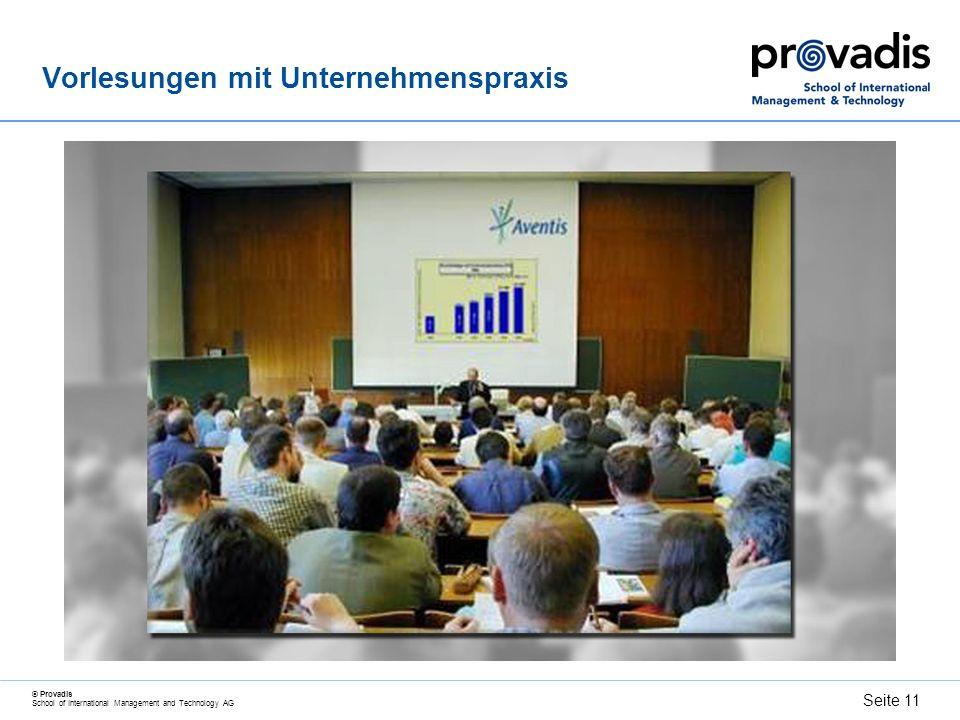 Vorlesungen mit Unternehmenspraxis