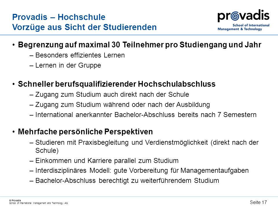 Provadis – Hochschule Vorzüge aus Sicht der Studierenden