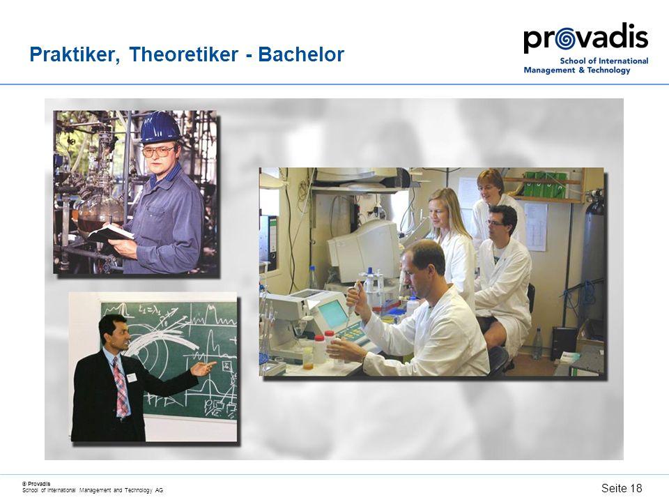 Praktiker, Theoretiker - Bachelor
