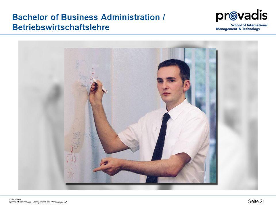 Bachelor of Business Administration / Betriebswirtschaftslehre