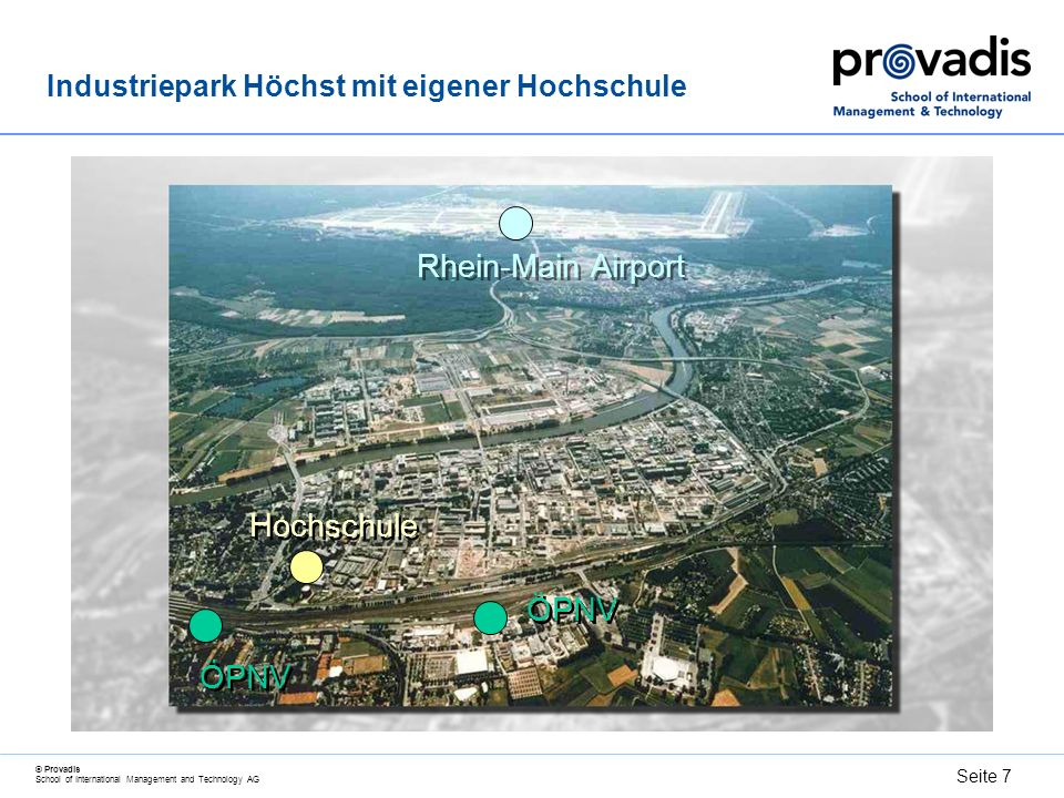 Industriepark Höchst mit eigener Hochschule