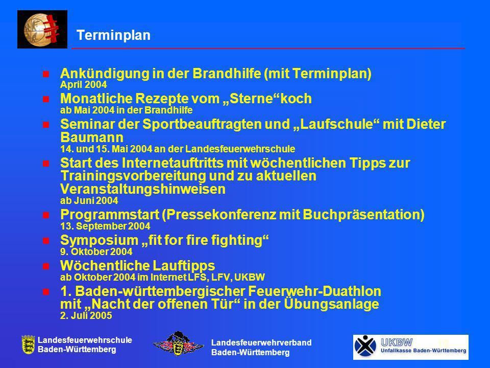 """Terminplan Ankündigung in der Brandhilfe (mit Terminplan) April 2004. Monatliche Rezepte vom """"Sterne koch ab Mai 2004 in der Brandhilfe."""