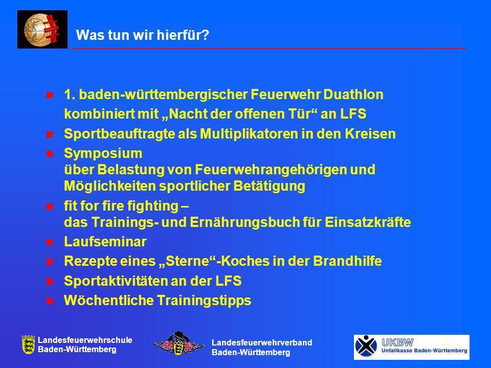 """Was tun wir hierfür 1. baden-württembergischer Feuerwehr Duathlon. kombiniert mit """"Nacht der offenen Tür an LFS."""