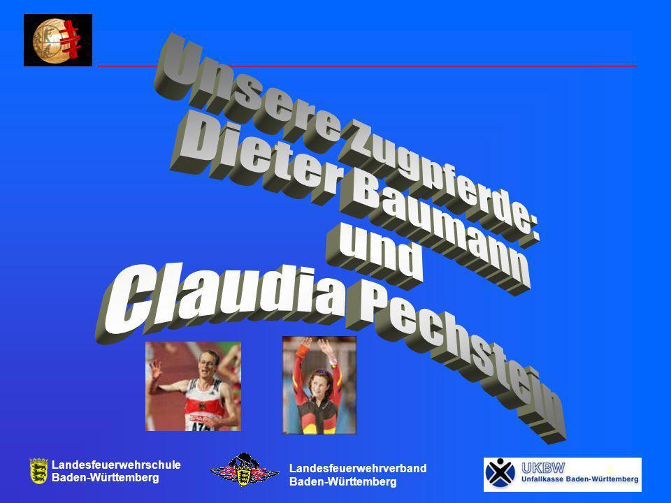 Unsere Zugpferde: Dieter Baumann und Claudia Pechstein