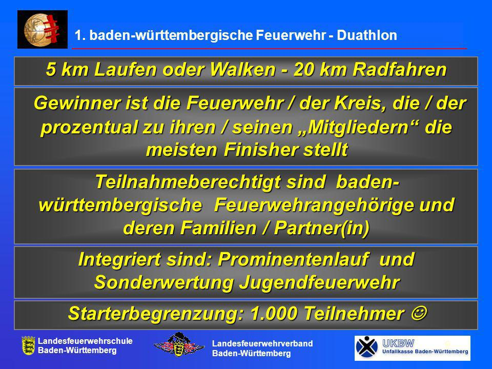 1. baden-württembergische Feuerwehr - Duathlon