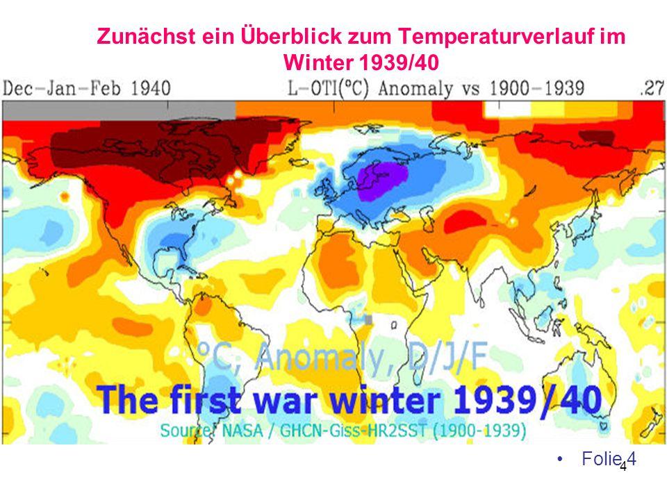 Zunächst ein Überblick zum Temperaturverlauf im Winter 1939/40