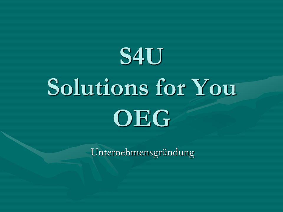 S4U Solutions for You OEG