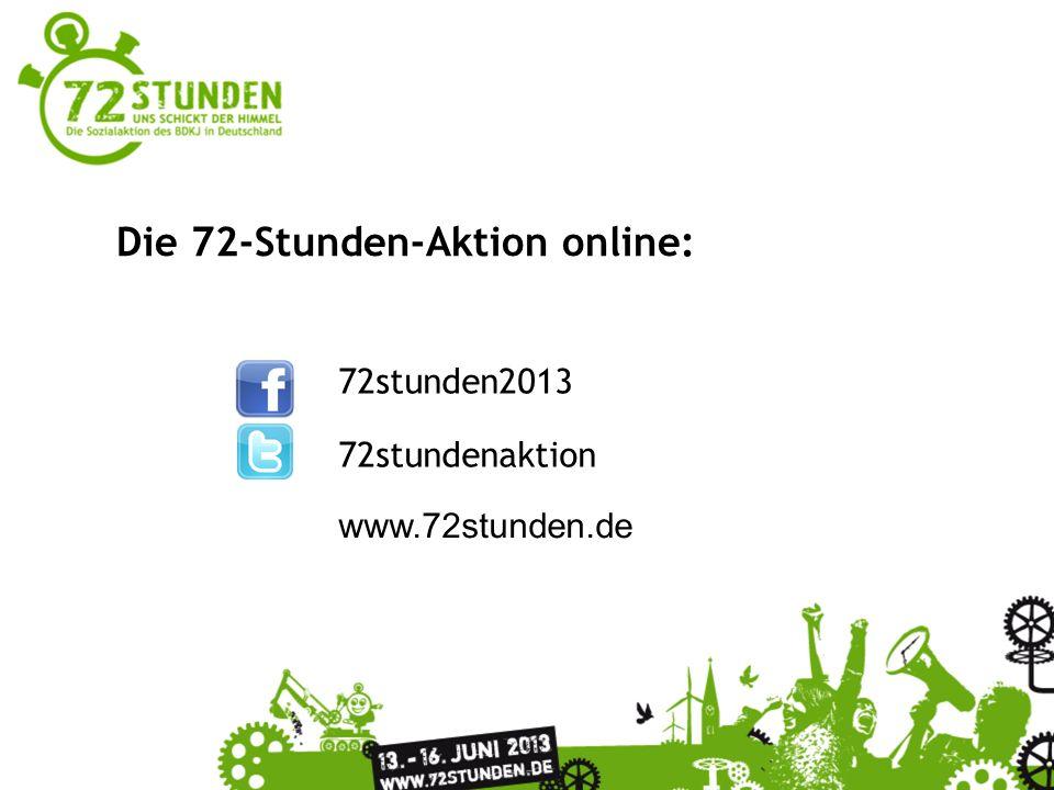 Die 72-Stunden-Aktion online: