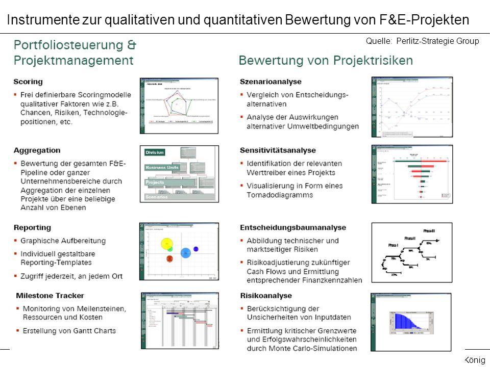 Instrumente zur qualitativen und quantitativen Bewertung von F&E-Projekten