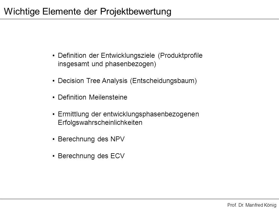 Wichtige Elemente der Projektbewertung