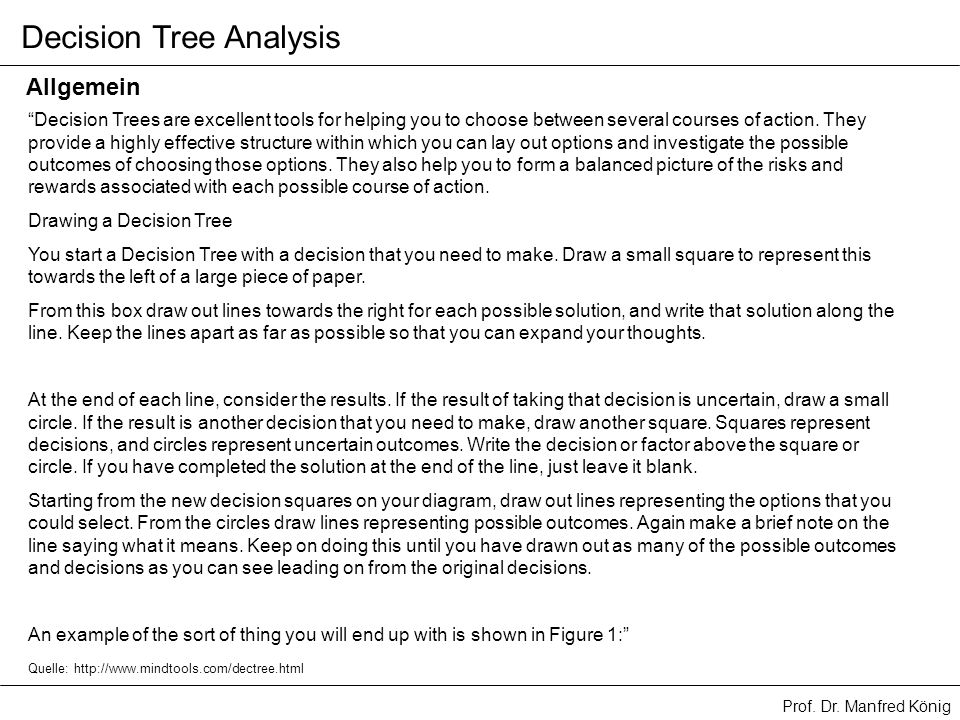 Decision Tree Analysis