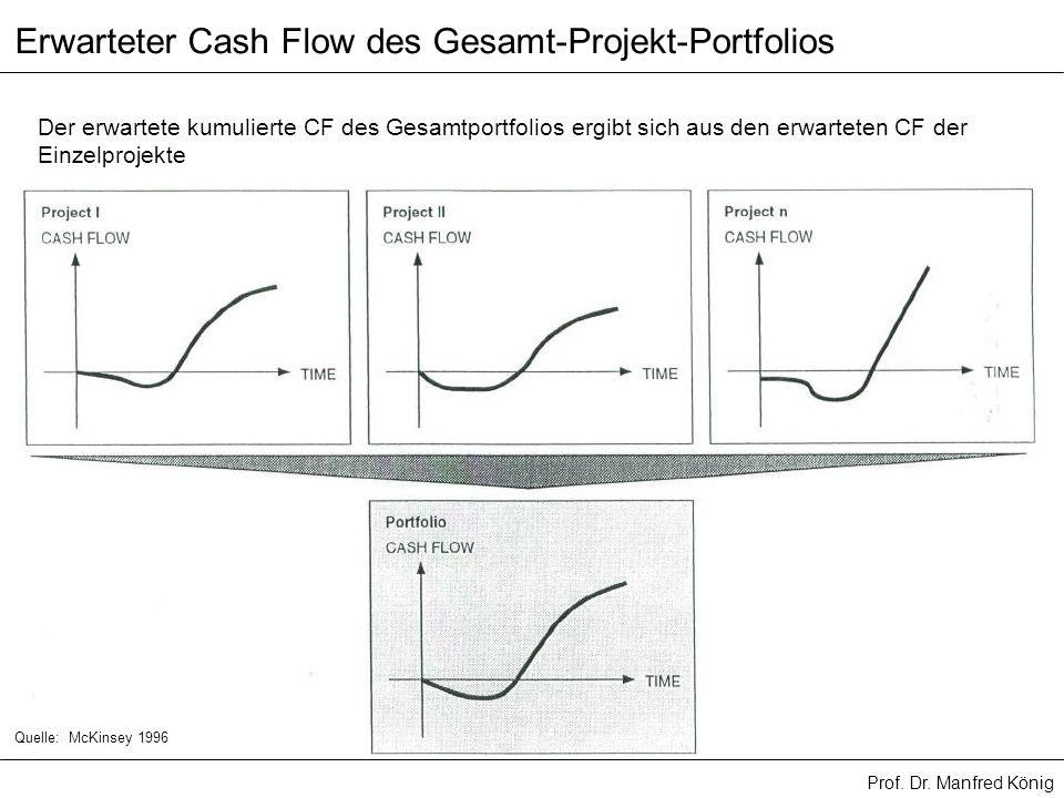 Erwarteter Cash Flow des Gesamt-Projekt-Portfolios