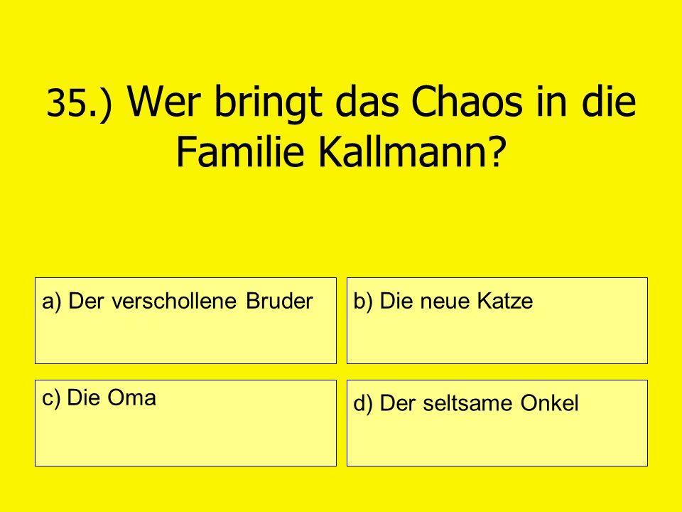 35.) Wer bringt das Chaos in die Familie Kallmann