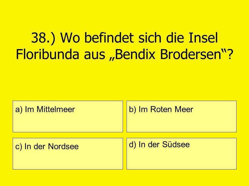 """38.) Wo befindet sich die Insel Floribunda aus """"Bendix Brodersen"""