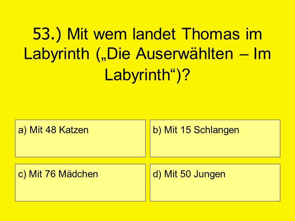 """53.) Mit wem landet Thomas im Labyrinth (""""Die Auserwählten – Im Labyrinth )"""