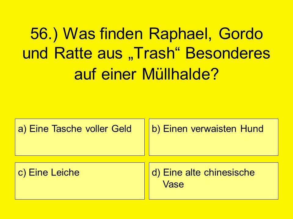 """56.) Was finden Raphael, Gordo und Ratte aus """"Trash Besonderes auf einer Müllhalde"""