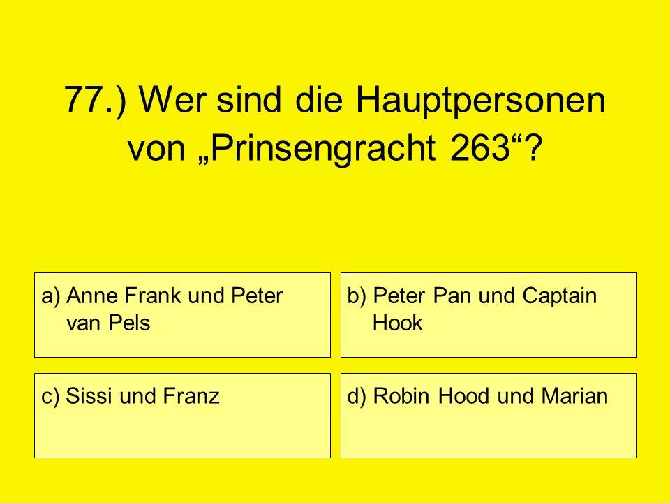 """77.) Wer sind die Hauptpersonen von """"Prinsengracht 263"""