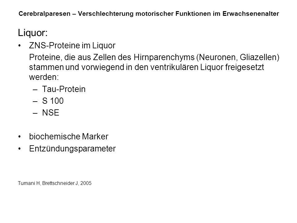 Liquor: ZNS-Proteine im Liquor