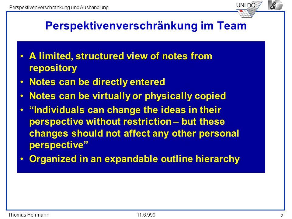 Perspektivenverschränkung im Team