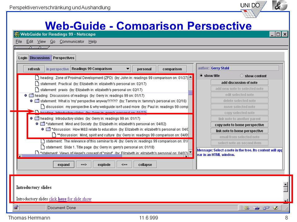 Web-Guide - Comparison Perspective