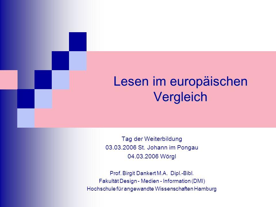 Lesen im europäischen Vergleich