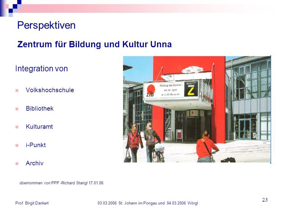 Perspektiven Zentrum für Bildung und Kultur Unna Integration von