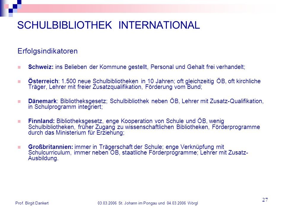 SCHULBIBLIOTHEK INTERNATIONAL