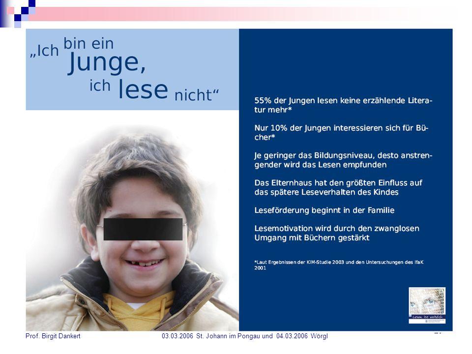 Prof. Birgit Dankert 03. 03. 2006 St. Johann im Pongau und 04. 03