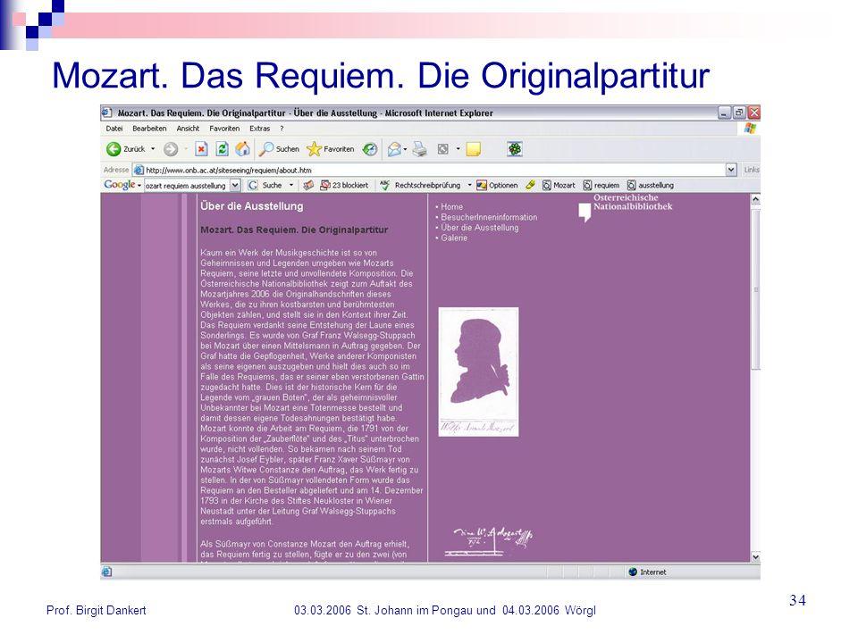 Mozart. Das Requiem. Die Originalpartitur