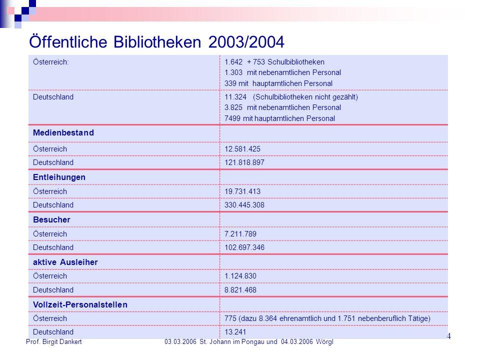 Öffentliche Bibliotheken 2003/2004