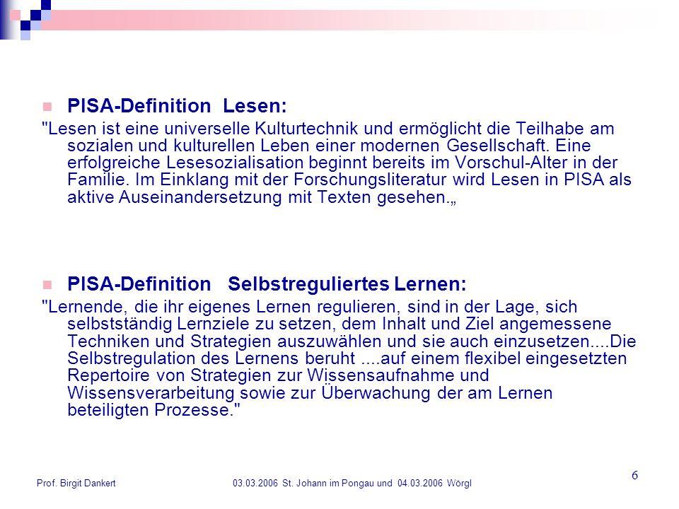 PISA-Definition Lesen: