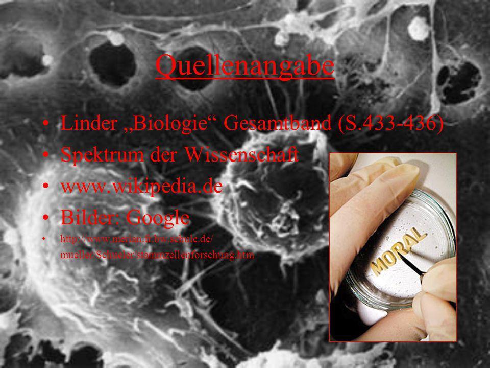 """Quellenangabe Linder """"Biologie Gesamtband (S.433-436)"""