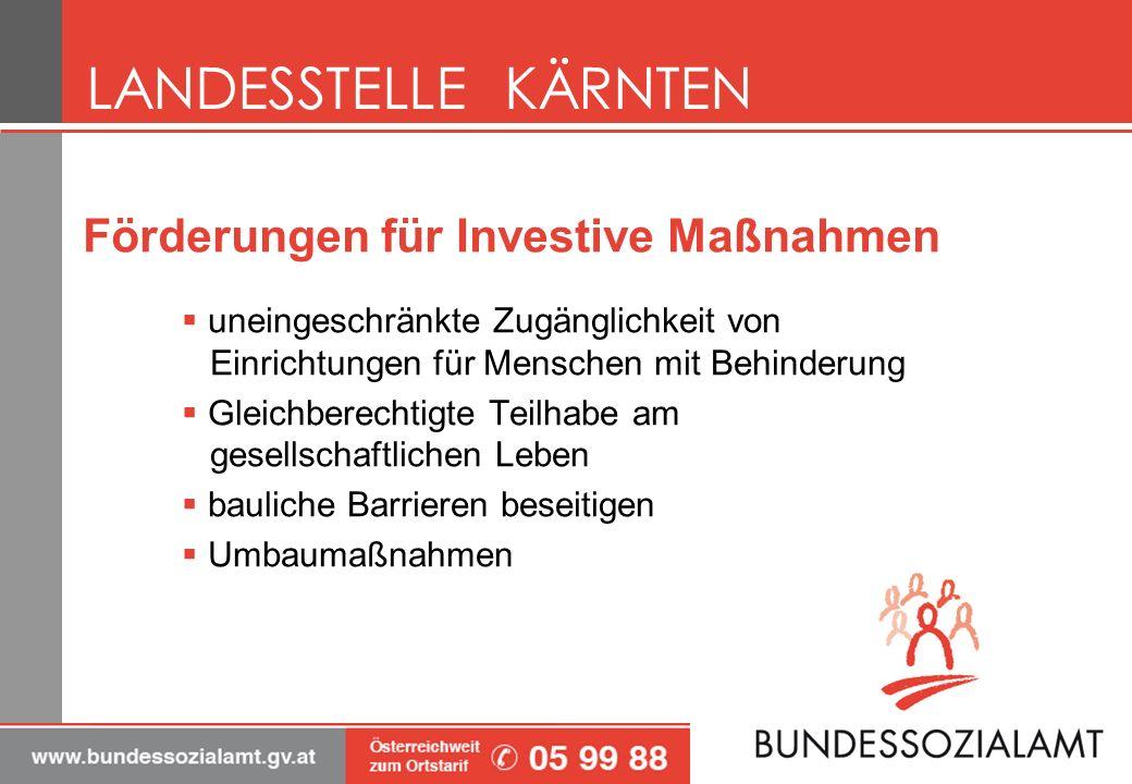 Förderungen für Investive Maßnahmen