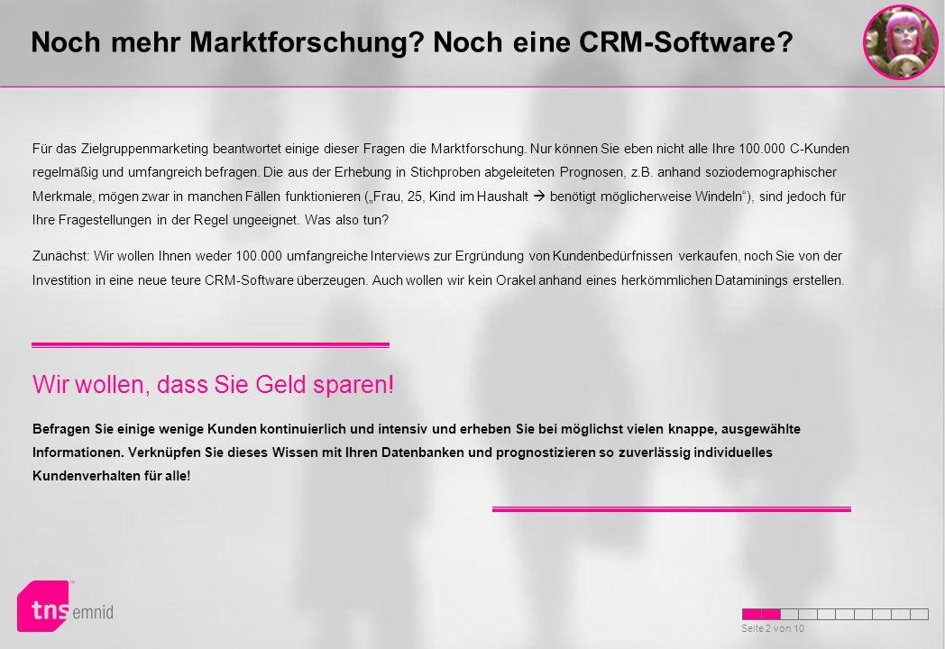 Noch mehr Marktforschung Noch eine CRM-Software