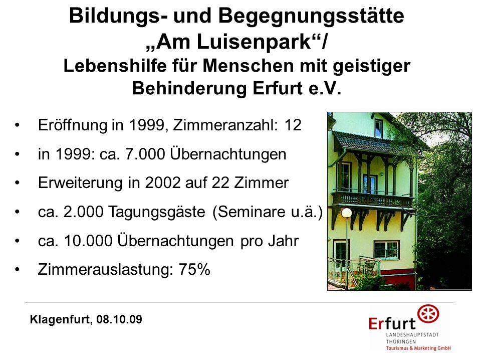 """Bildungs- und Begegnungsstätte """"Am Luisenpark / Lebenshilfe für Menschen mit geistiger Behinderung Erfurt e.V."""