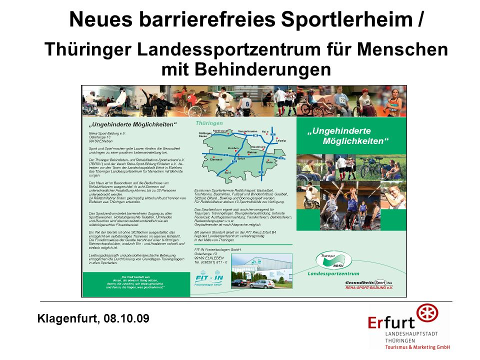 Neues barrierefreies Sportlerheim /