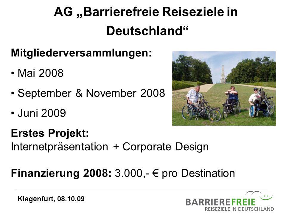 "AG ""Barrierefreie Reiseziele in"