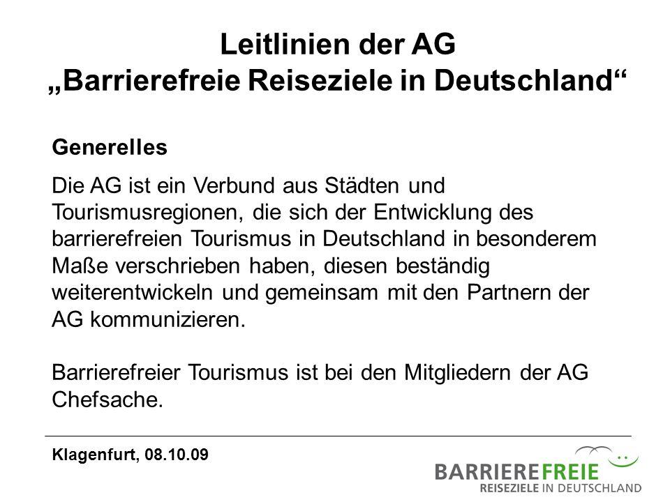 """Leitlinien der AG """"Barrierefreie Reiseziele in Deutschland"""