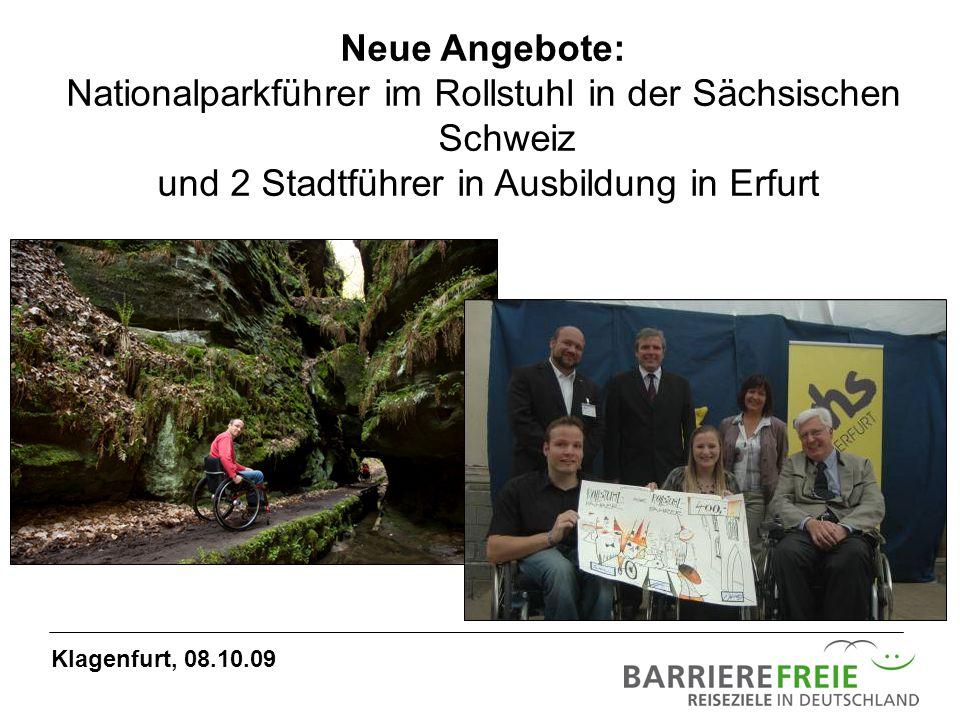 Nationalparkführer im Rollstuhl in der Sächsischen Schweiz